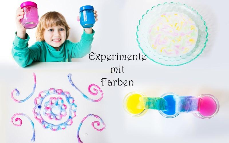 Experimente mit Farben für Kinder