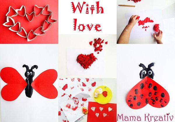 basteln mit kindern zum valentinstag mama kreativ. Black Bedroom Furniture Sets. Home Design Ideas