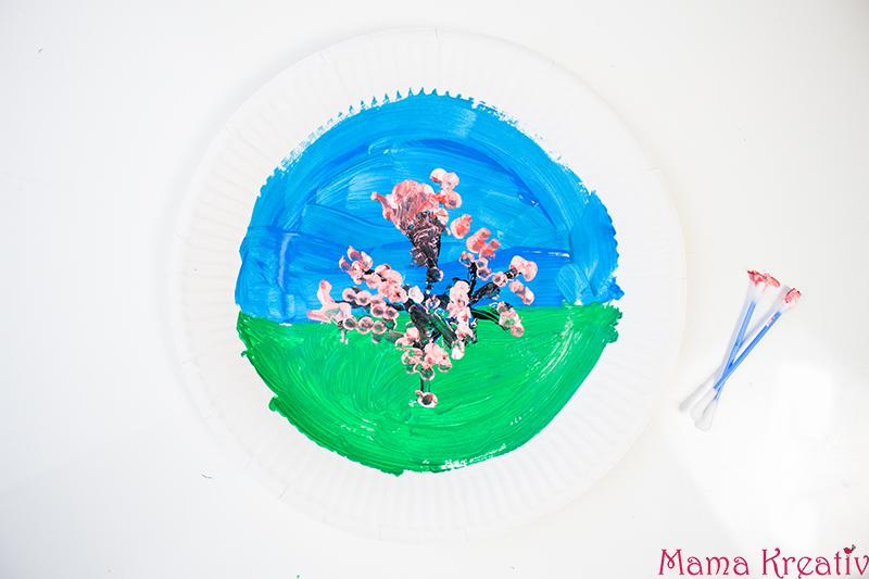 Malen im Frühling mit Kindern Frühlingsbaum