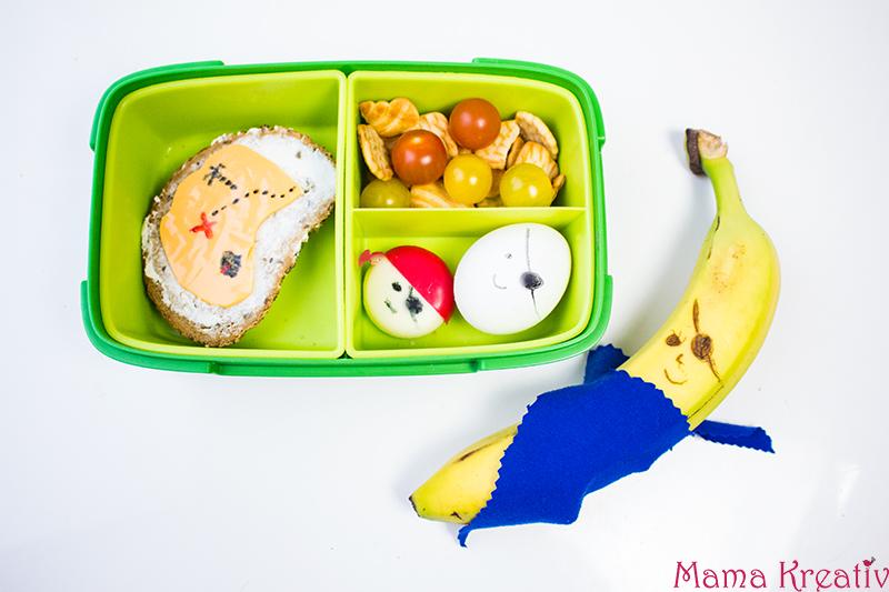 Piraten Lunchbox Ideen für Kinder. Schulbrote für Jungs