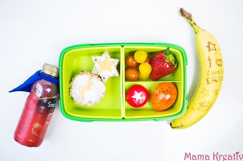 Superhelden Lunchbox Ideen für Kinder. Schulbrote für Jungs