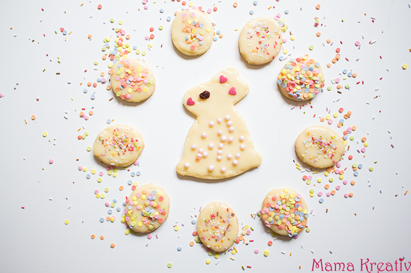 Süße Osterhasen Kekse Plätzchen backen rezept schnell einfach (14)