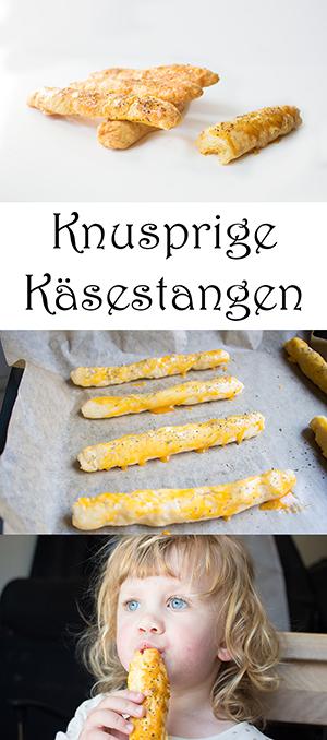 Backen für Kinder - Knusprige Käsestangen für die Lunchbox