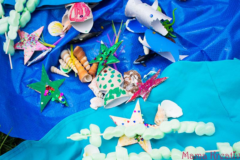 Spielen mit Kindern Ozean im Garten basteln (13)