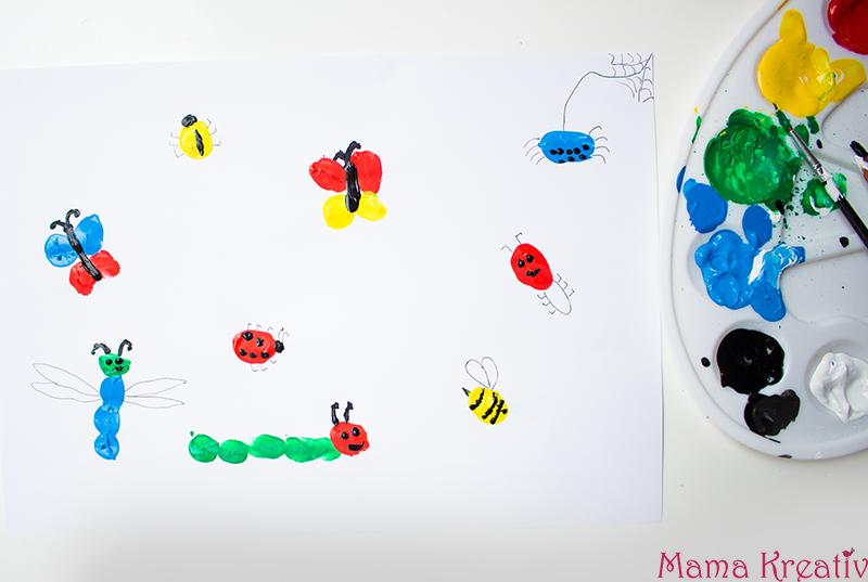 Malen mit den Fingern: lustige Bilder aus Fingerabdrücken - über 50 ...