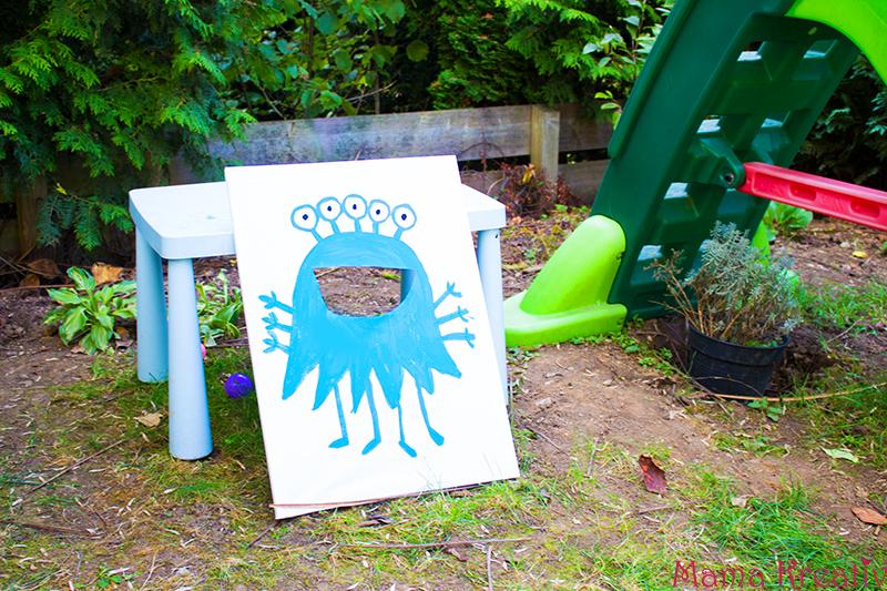 Monster Geburtstag: Spiele, Deko und Rezepte für Kinder DIY Spiel monster füttern