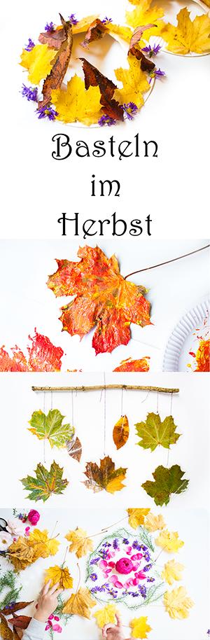 Basteln mit Kindern im Herbst - 8 Ideen mit Naturmaterialien