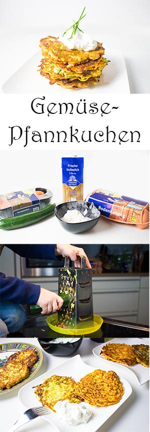 Kochen mit Kindern gesunde Frühstücksideen - Gemüse-Pfannkuchen