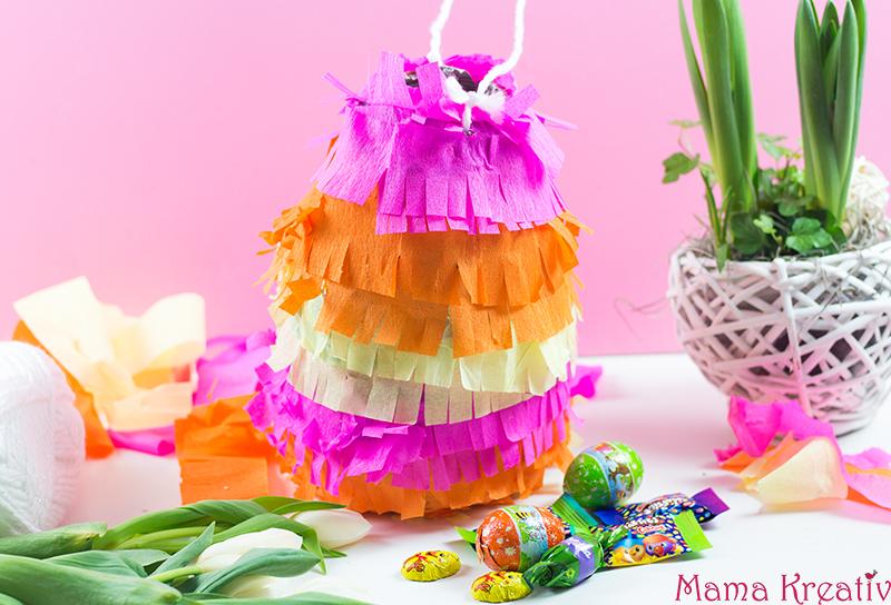 Osternest Mal Anders Bunte Osterei Piñata Mama Kreativ