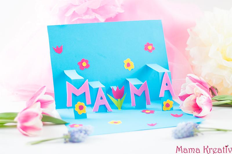 Pop Up Muttertagskarte Basteln Schnell Und Einfach Mama