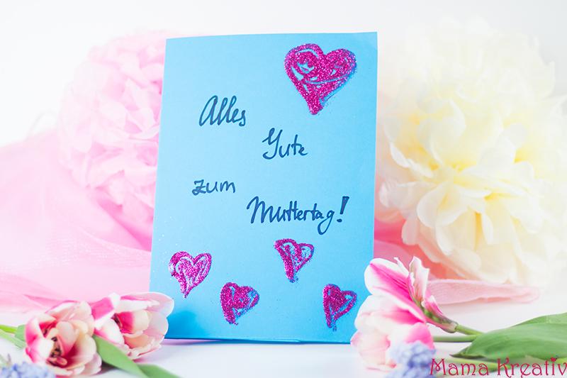 Pop Up Muttertagskarte Basteln Schnell Und Einfach Mama Kreativ