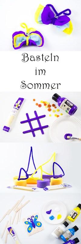 4 coole Ideen zum Basteln mit Kindern im Sommer