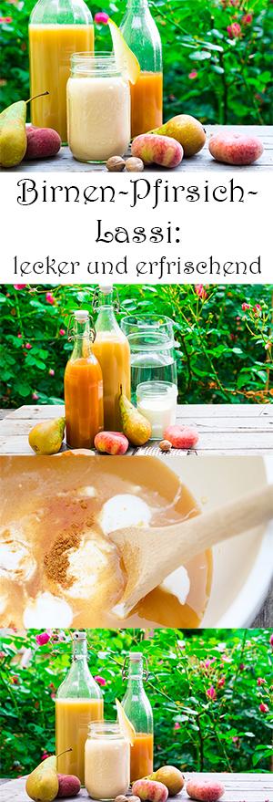 Birnen-Pfirsich Lassi selber machen - Rezept - gesunde erfrischende Getränke für den Sommer