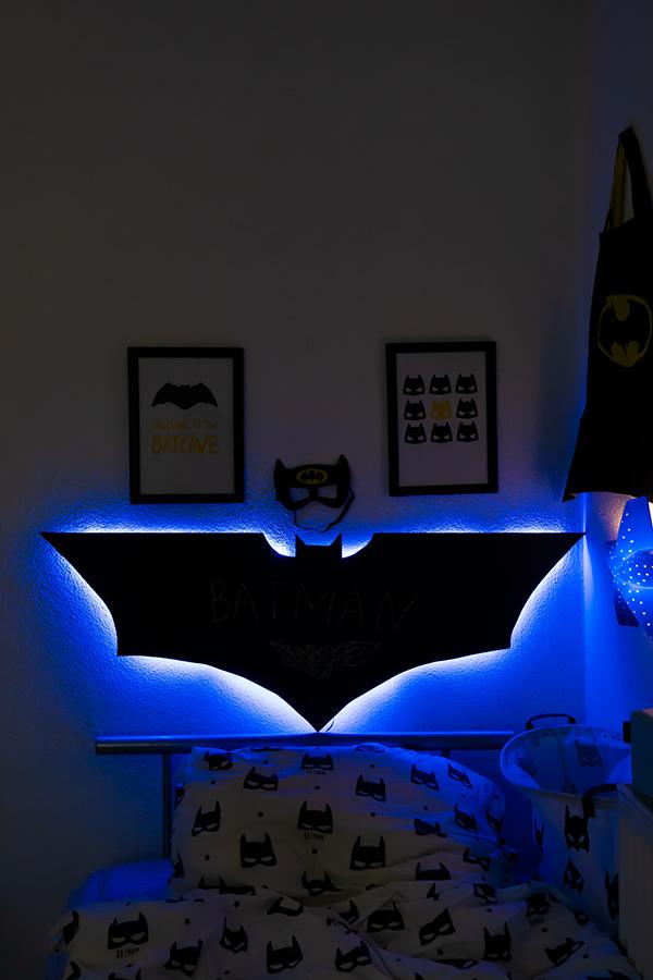 Diy Kreidetafel Nachtlicht Und Batman Kinderzimmer Deko
