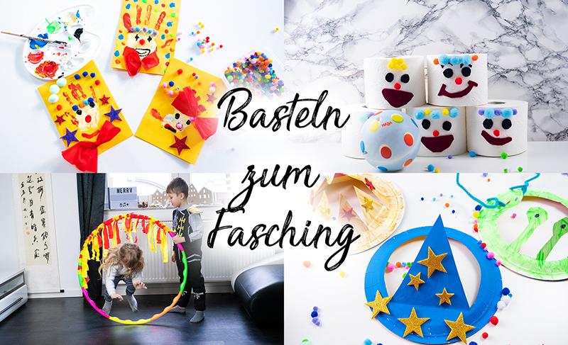 Basteln Fasching - Spiele und Bastelideen für Fasching - Basteln mit Kindern - DIY Spiele selber machen