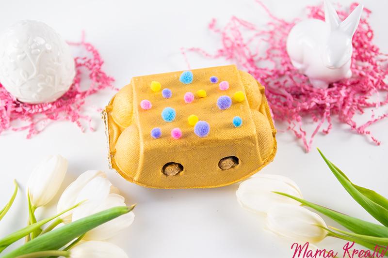 Osternest basteln aus Eierkarton - 4 einfache Upcycling Ideen zum basteln mit Kindern und Kleinkindern