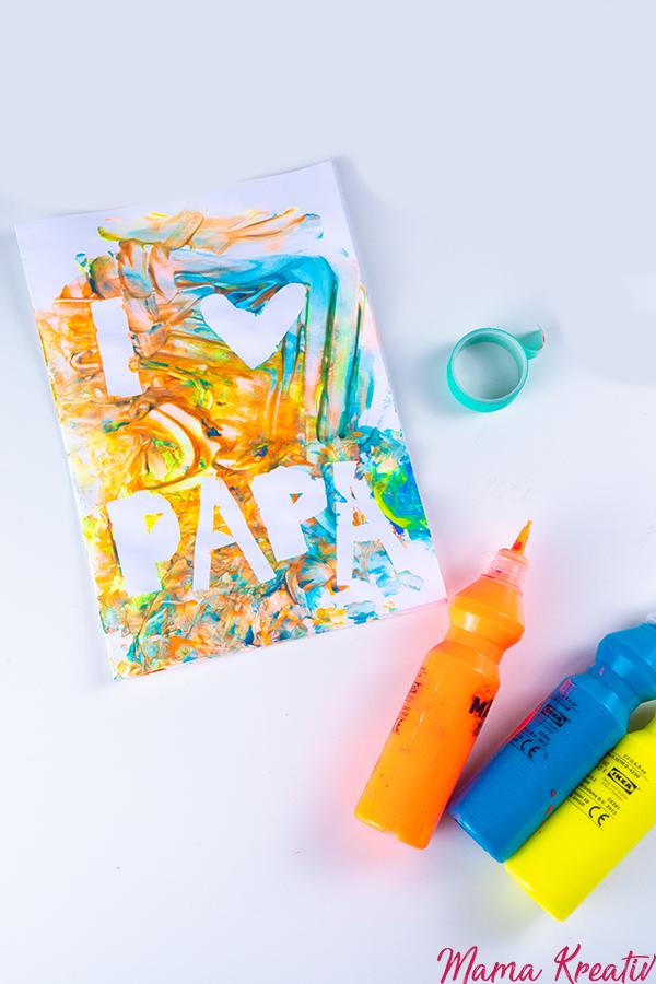 Vatertagsgeschenk basteln mit Kindern, Kleinkindern und Baby schnell und einfach DIY zum Vatertag