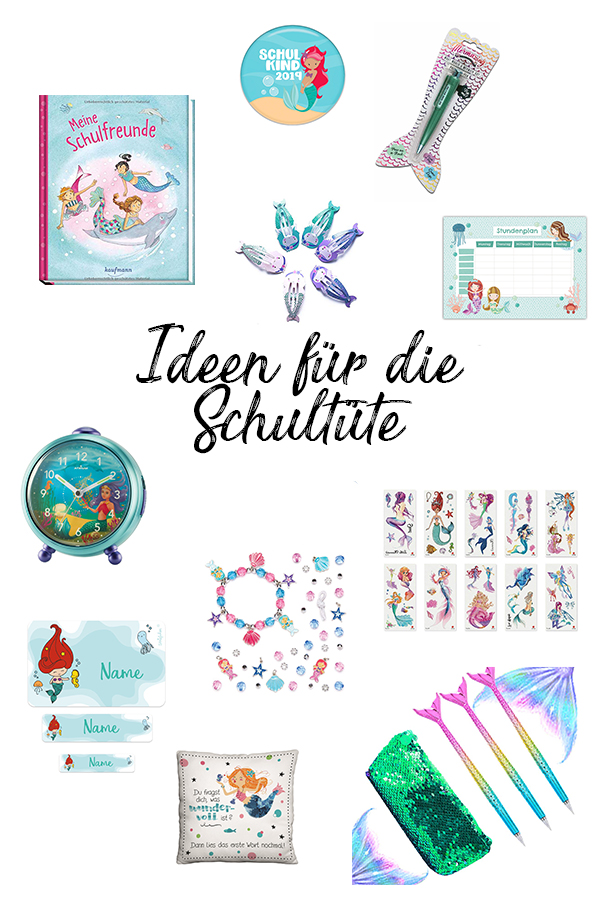 Schultüte füllen: über 200 Ideen für die Schultüte Mädchen Meerjungfrau