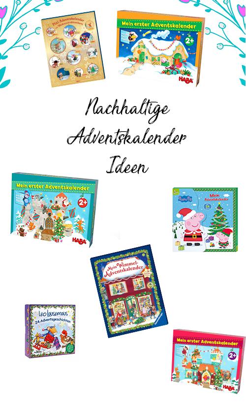 Nachhaltige Adventskalender für Kinder zum Kaufen und selber machen: ganz viele Ideen