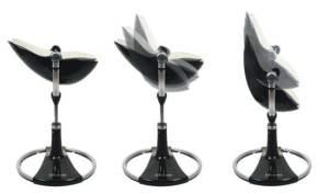 BLOOM Fresco Chrome maitinimo kėdutė, Black/Silver paminkštinimas