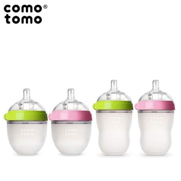 Comotomo EVOLVED 4 vnt. buteliukų ir žindukų rinkinys, Pink