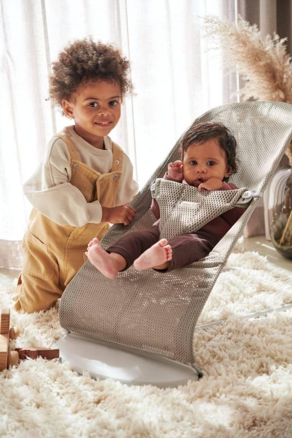BABYBJÖRN gultukas Bliss Mesh, Grey Beige