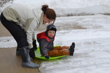 Frist time playing in the snow!
