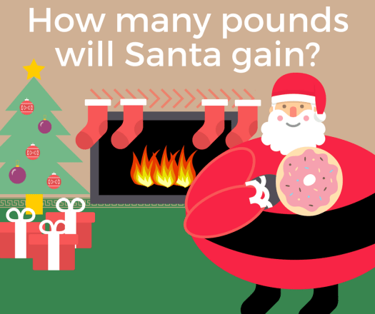 How many pounds will Santa gain
