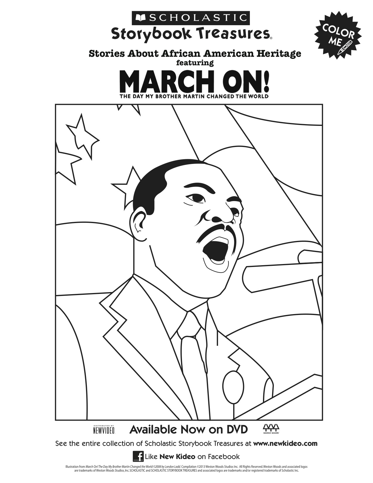 Scholastic Printable March On! Martin Luther King Jr