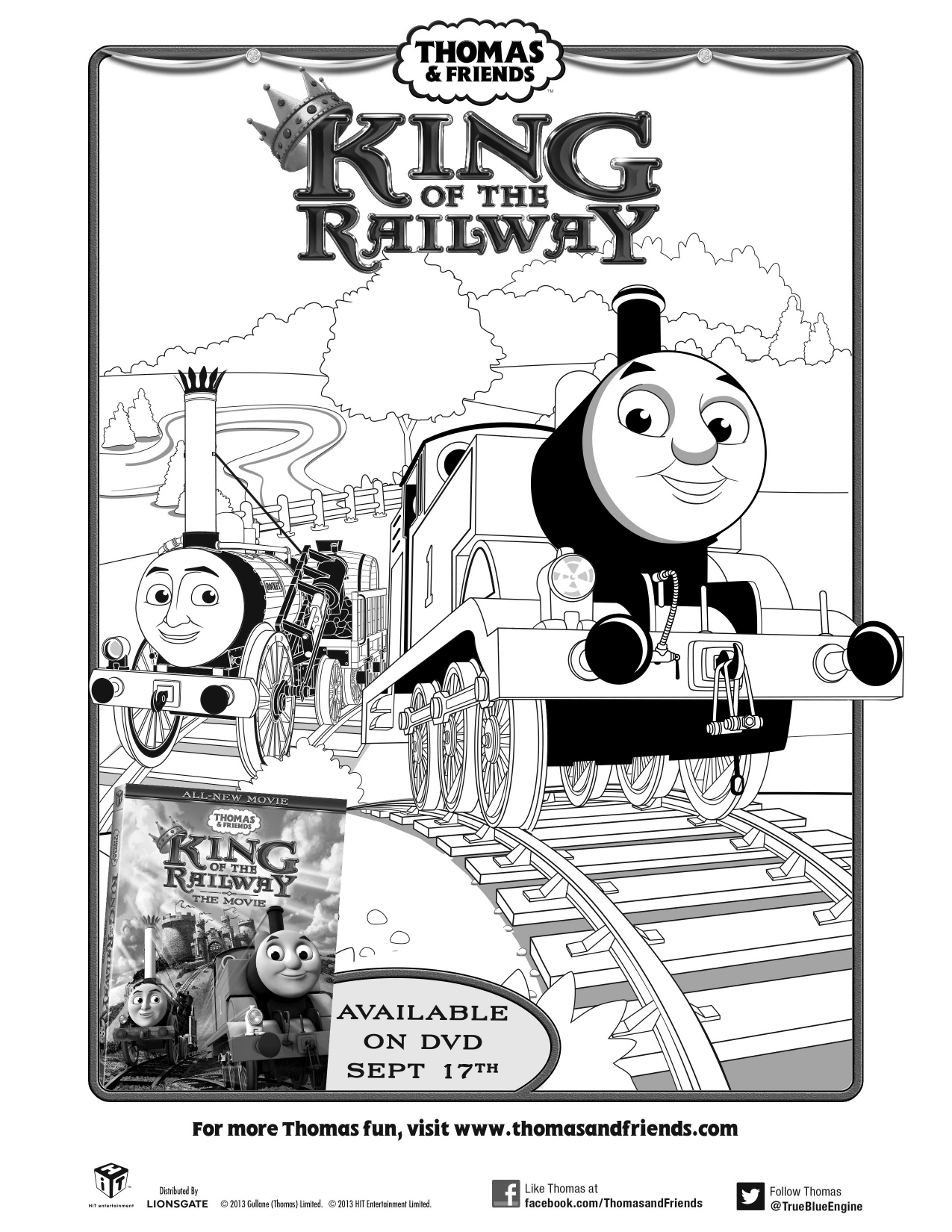Thomas & Friends: King of the Railway the Movie Printable