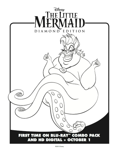 little mermaid ursula coloring page  mama likes this