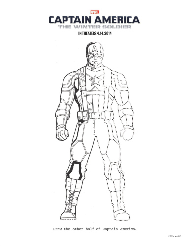 Captain America: The Winter Soldier Printable Coloring