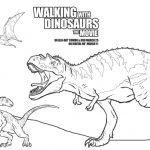 Free Printable Walking with Dinosaurs Coloring Sheet