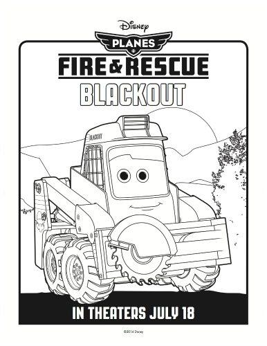 Disney Planes: Fire & Rescue Printable Coloring Page
