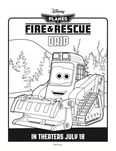 Disney Planes: Fire & Rescue Printable Coloring Sheet