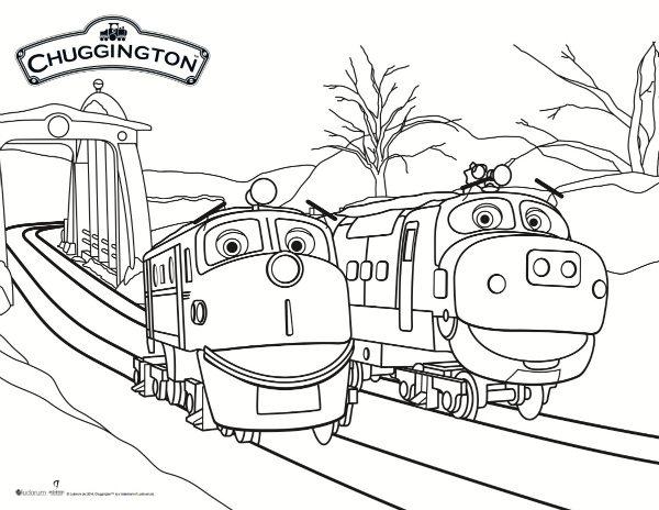 Chuggington Train Set With Garage