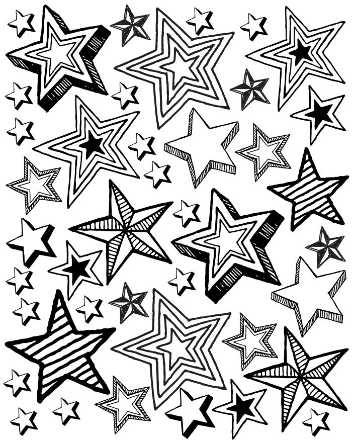 Printable Star Party Coloring Page Mama Likes This