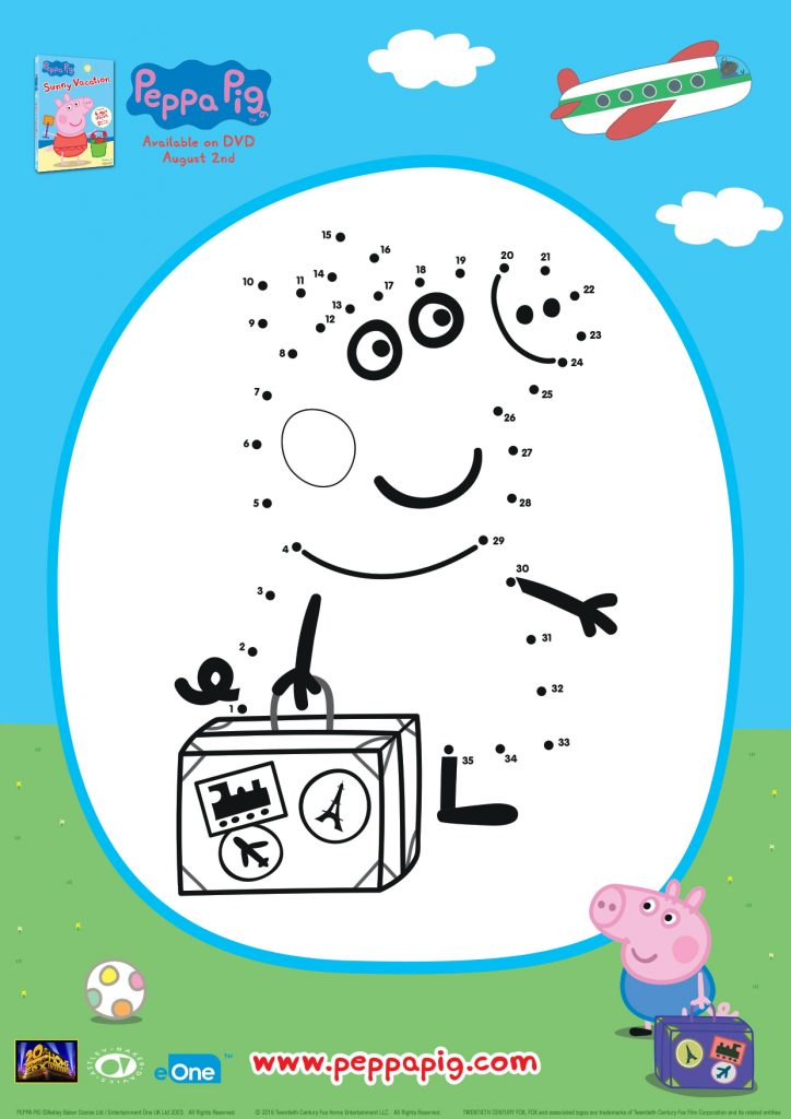 Peppa Pig Connect The Dots Activity Pages Mama Likes This