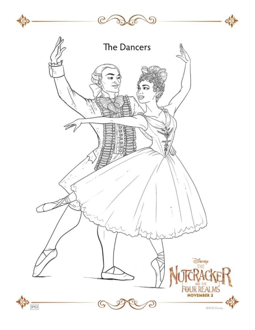 Misty Copeland Coloring Page from Disney's Nutcracker
