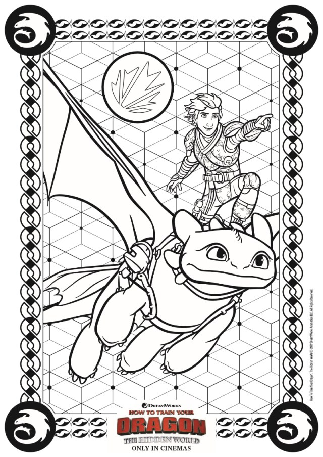 Hidden World Coloring Page from HTTYD30 - Mama Likes This