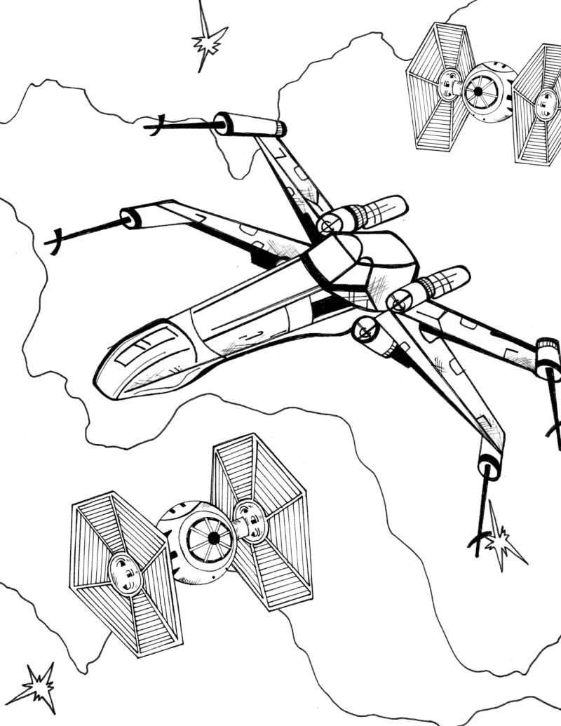 Star Wars X Wing Coloring Pages Printable for Kids, Adults 2021