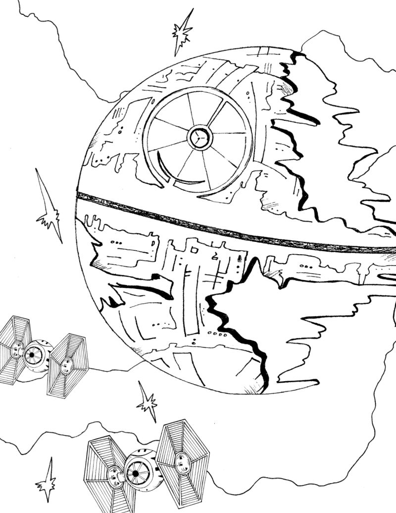 Star Wars Death Star Coloring Page Mama Likes This