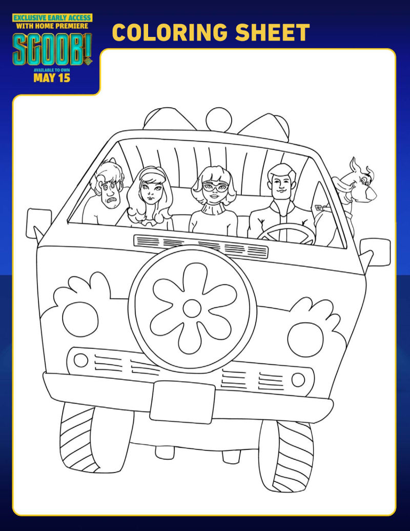 Mystery Machine Coloring Page : mystery, machine, coloring, Scoob, Mystery, Machine, Coloring, Likes