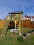 Gartentraum für Kinder- ein Stelzenhaus