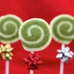 Green Tea Swirl Cookie Pops