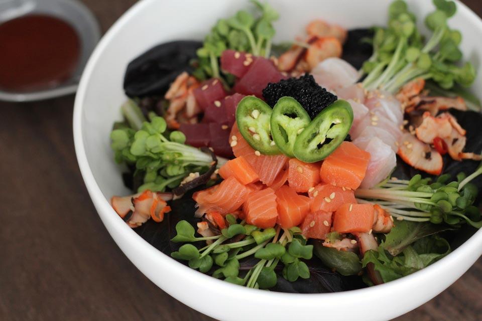 Spicy mixed sashimi bowl recipe for Sashimi grade fish