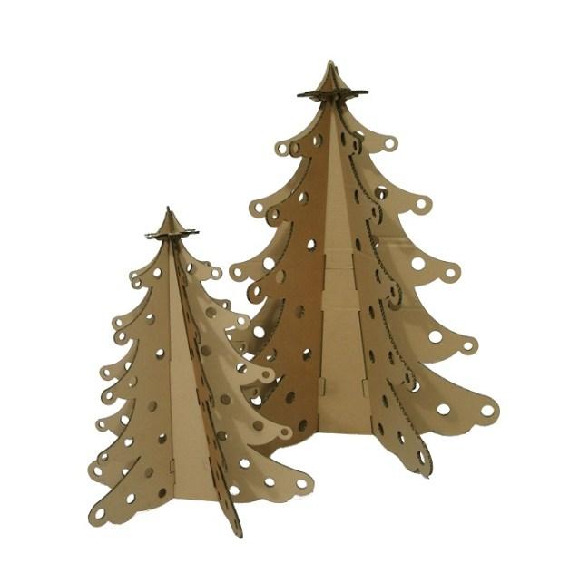 Kerstboom van karton