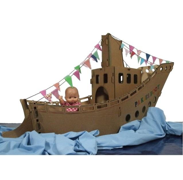 Stoomboot van karton | Kijk op Spel