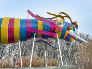 Le nouveau dragon de la Villette conçu par Ursula Kurz © Bruno Delamain VIL_