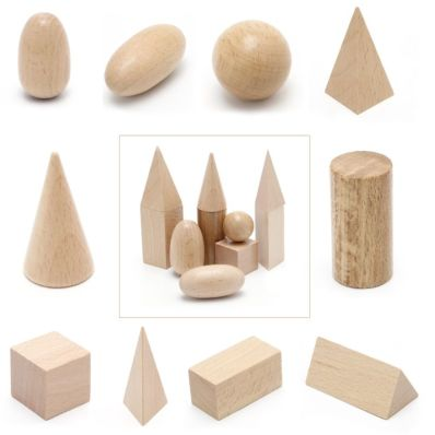 Montessori low-cost. Figuras geométricas de madera